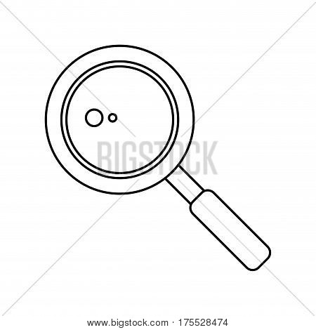 search loupe school thin line vector illustration eps 10
