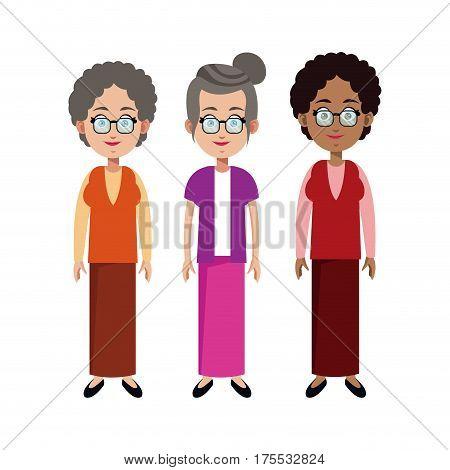 group grandmother family member vector illustration eps 10