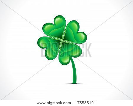 abstract artistic st patrick clover vector illustration
