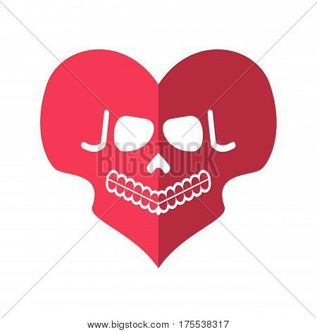 Dead Love. Skulls Heart. Deadly Cupid Emblem
