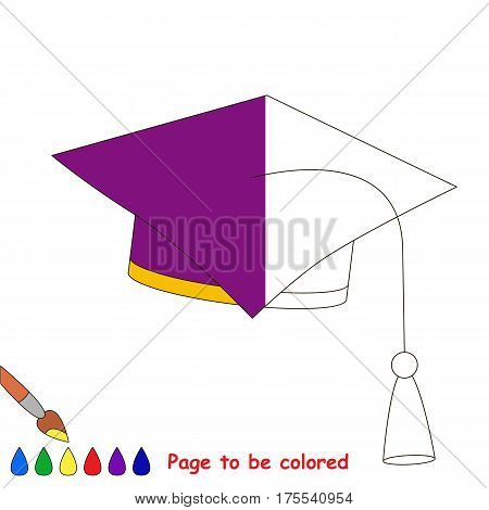 Educational Square Hat, the coloring book to educate preschool kids with easy gaming level, the kid educational game to color the colorless half by sample.