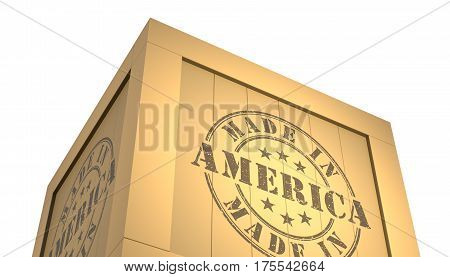 Import - Export Wooden Crate. Made In America