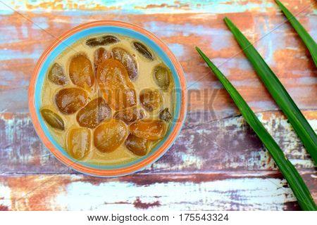 Kolak kolang kaling or atap seed compote