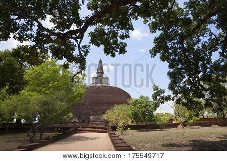 Kiri Vihara in Polonnaruwa or Pulattipura ancient city Kingdom of Polonnaruwa in Sri Lanka vertical