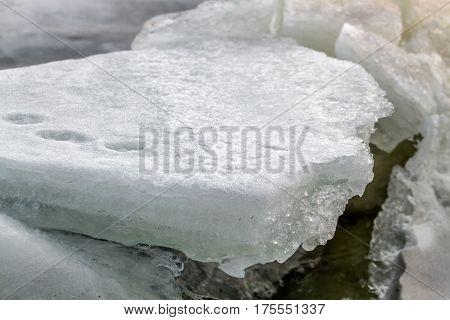 Ice On Lagoon In Winter