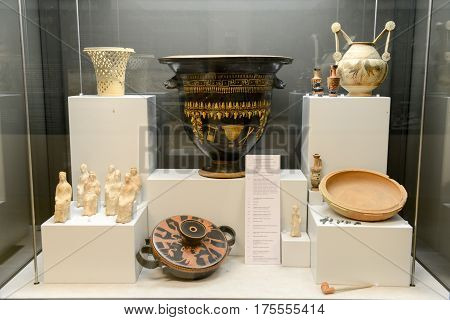 Ancient Amphoras Of The Museum At The Roman Ruins In Egnazia