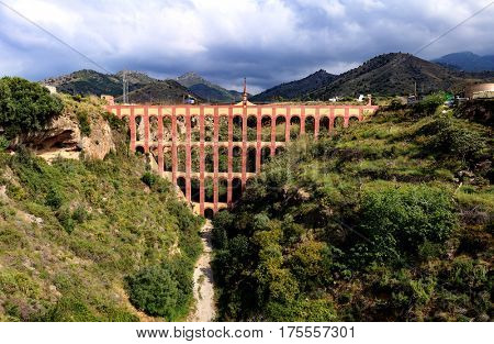 Old aqueduct in Spain