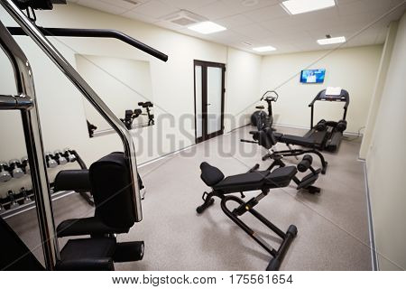 Gym Equipped With Weights And Machines