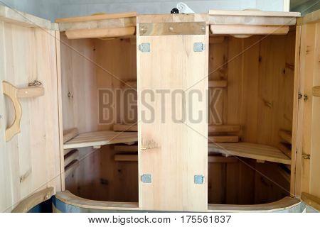 Cedar Barrel Sauna New Form Of Treatment