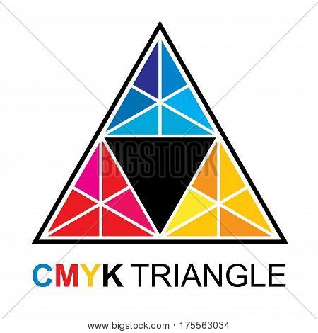 CMYK Triangle Cyen Magenta Yellow Black Pyramid