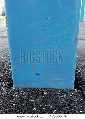 Frame In Flexible Tile For Playground. Flexible Floor
