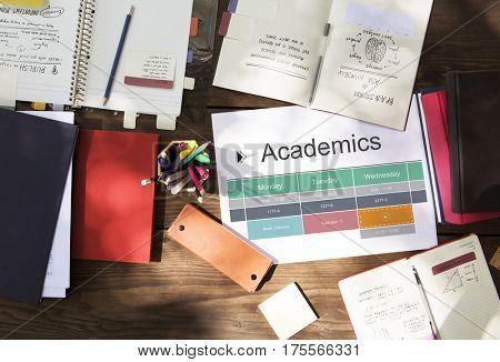Classroom Class Study Academic Schedule