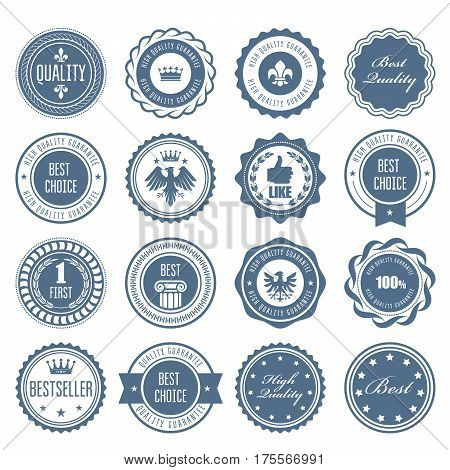 Emblems badges and stamps - awards and seals designs