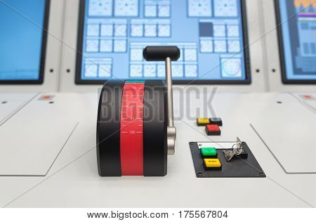 Simulator for maritime training. Navigation department bridge
