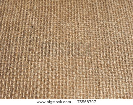 Brown Burlap Hessian Fabric Background