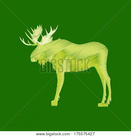 flat shading style icon Elk wildlife moose