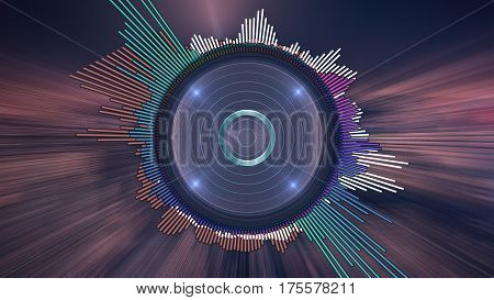 Audio visual. Digital audio equalizer, music background