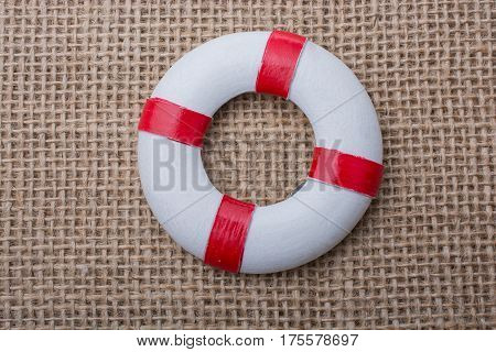 Lifesaver Or Life Preserver On Fabric