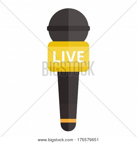 Microphone vector icon isolated. Some vector microphone interview, music, TV. Web broadcasting microphone, vocal tool, tv show microphone icon isolated