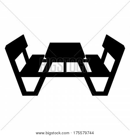 Picnic table with chairs ( shade picture )