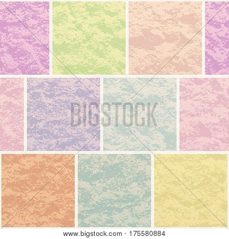 Abstract Seamless Background, Tile Checked Texture Pattern for Your Design, Split into Separate Parts of Various Colors. Eps10, Contains Transparencies. Vector