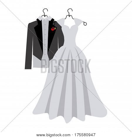 colorful silhouette costume wedding desing vector illustration