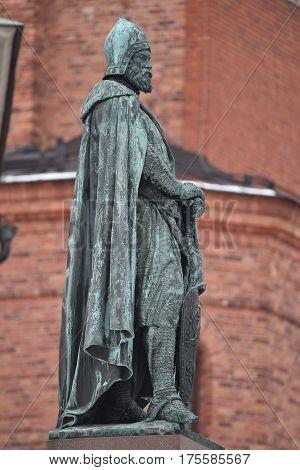 Birger Magnusson, Birger Jarl , bronze statue, Stockholm, Sweden