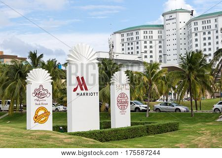 Jw Marriott Cancun Resort And Spa Sign At The Entrence