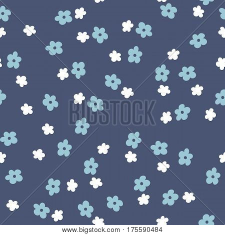Seamless vector hand drawn pattern with abstract shapes, flowers for wallpapers, web page backgrounds,textile