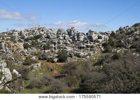 Rock formations in the El Torcal Park