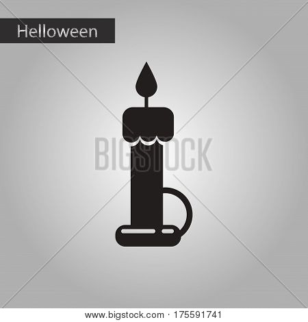 black and white style icon of halloween wax candle