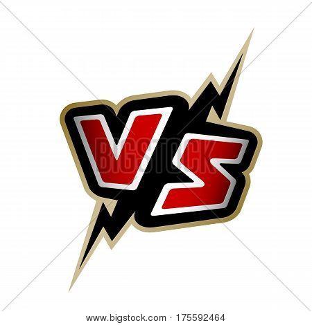 Versus letters. VS logo, sign. Vector illustration