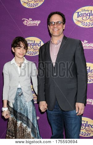 LOS ANGELES - MAR 4:  Ondine Bader, Diedrich Bader at the