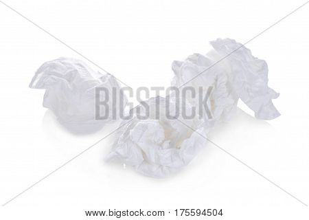 toilet paper balls isolated on white background