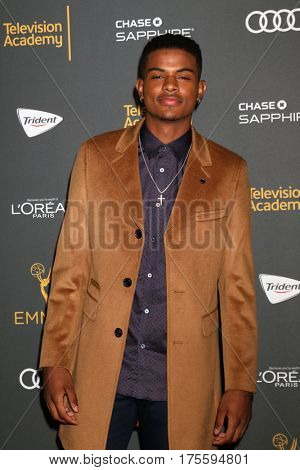 LOS ANGELES - SEP 16:  Trevor Jackson at the TV Academy Performer Nominee Reception at the Pacific Design Center on September 16, 2016 in West Hollywood, CA