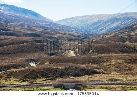 Scottish Highlands in spring (near Dalwhinnie),  UK.
