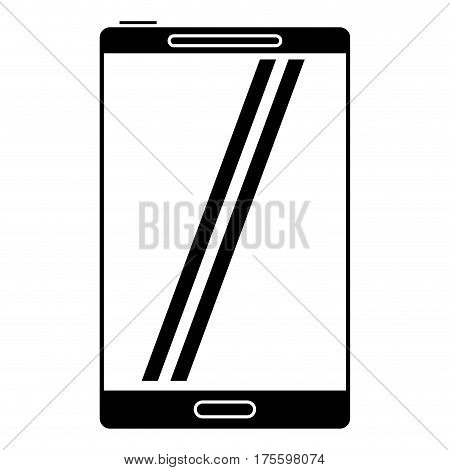 smartphone mobile technology screen pictogram vector illustration eps 10