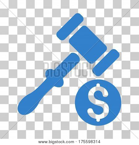 Auction icon. Vector illustration style is flat iconic symbol cobalt color transparent background. Designed for web and software interfaces.