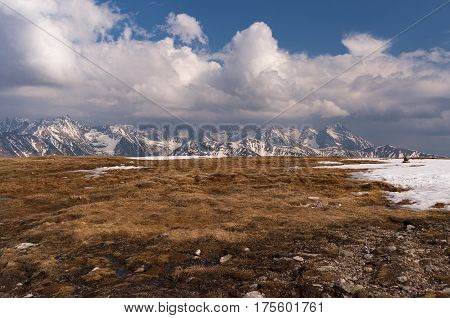 Mountain landscape in the spring. Tatry .