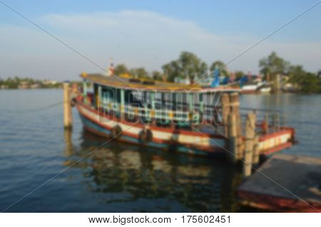 Blurred Photo, Blurry Image,boat Crossing The River Background