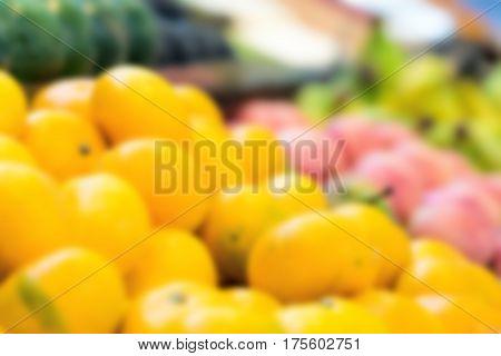 Vegetables At Supermarket, Blurred