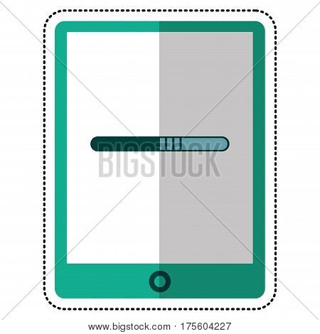 cartoon smartphone technology function device line vector illustration eps 10