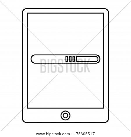 smartphone technology function device line vector illustration eps 10