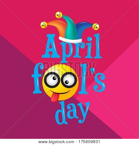 April fool's day Typography Colorful flat design vector illustration.