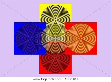 Op Art Homage To Rp Superposing Bullseye