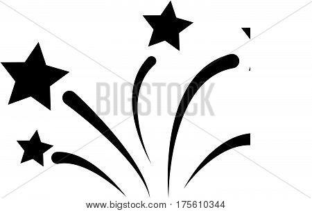 firework icon on white background. flat a firework icon. firework sign.