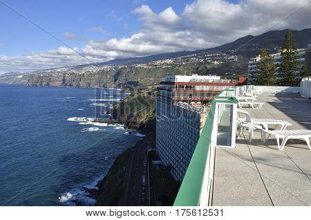 View over the North coastline of Tenerife picture from Puerto de la Cruz Tenerife Spain.