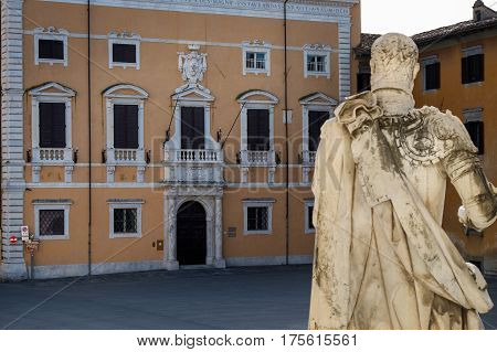 Pisa, Italy - Normale School Sant'anna In The Cavalieri Square
