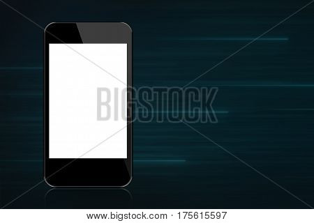 Blank Smartphone with Blue Light Motion Background