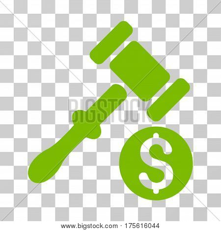Auction icon. Vector illustration style is flat iconic symbol eco green color transparent background. Designed for web and software interfaces.